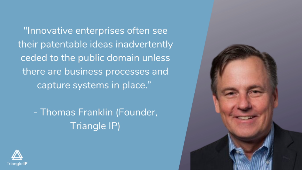 Innovation quote by founder of Triangle IP - Thomas Franklin